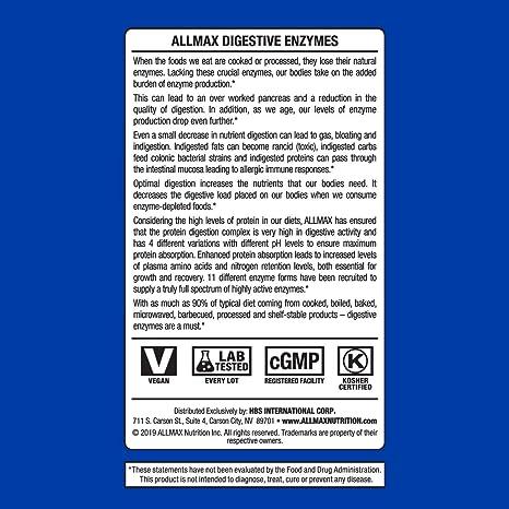 Las enzimas digestivas, 90 Cápsulas - ALLMAX Nutrición: Amazon.es ...