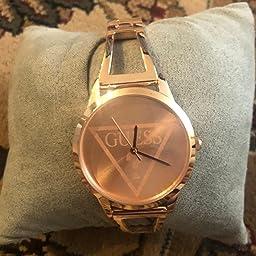 Amazon.com: GUESS - Reloj de cuarzo para mujer, de acero ...
