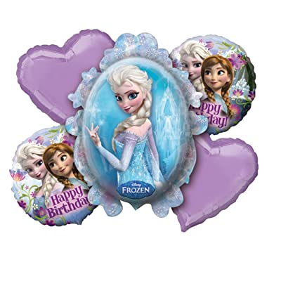 Disney Frozen Birthday Balloon Bouquet: Toys & Games