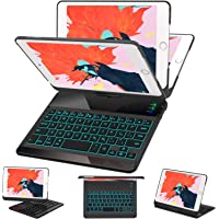 iPad Mini 5/ Mini 4 Keyboard Case - 7 Colors Backlit 360 Rotate 180 Flip Wireless Smart Folio Auto Sleep/Wake Hard Cover…