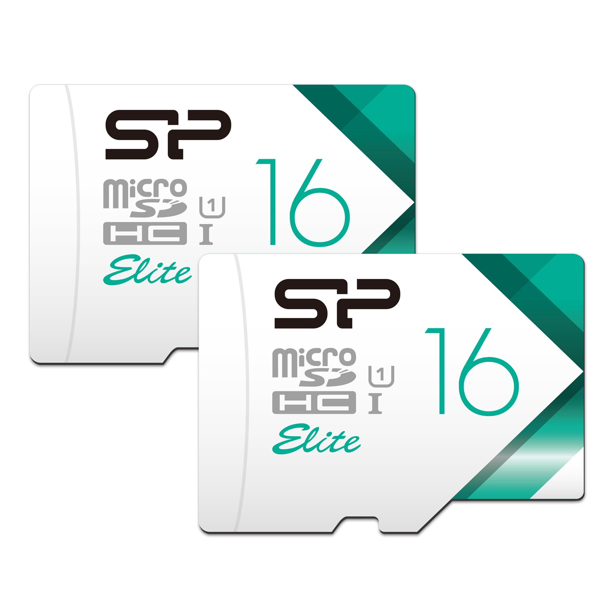 Silicon Power 16GB 2-Pack High Speed MicroSD Card with Adapter