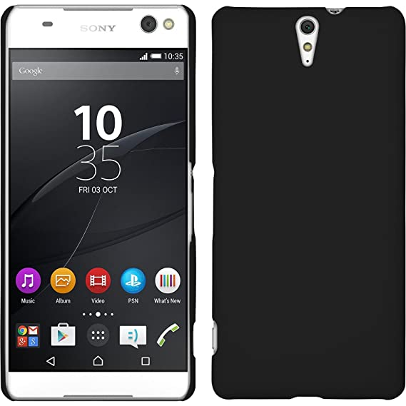 new product d4f6e e623b Hardcase for Sony Xperia C5 Ultra - rubberized black - Cover PhoneNatic +  protective foils