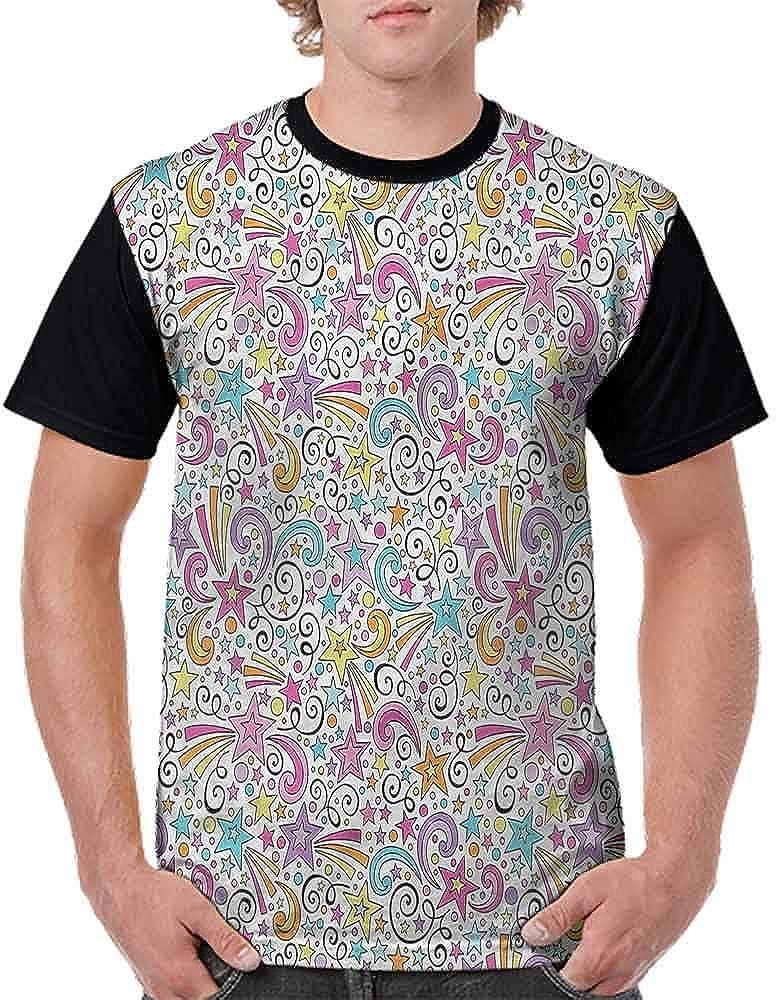 BlountDecor Loose T Shirt,Stars and Stripes Happy Fashion Personality Customization