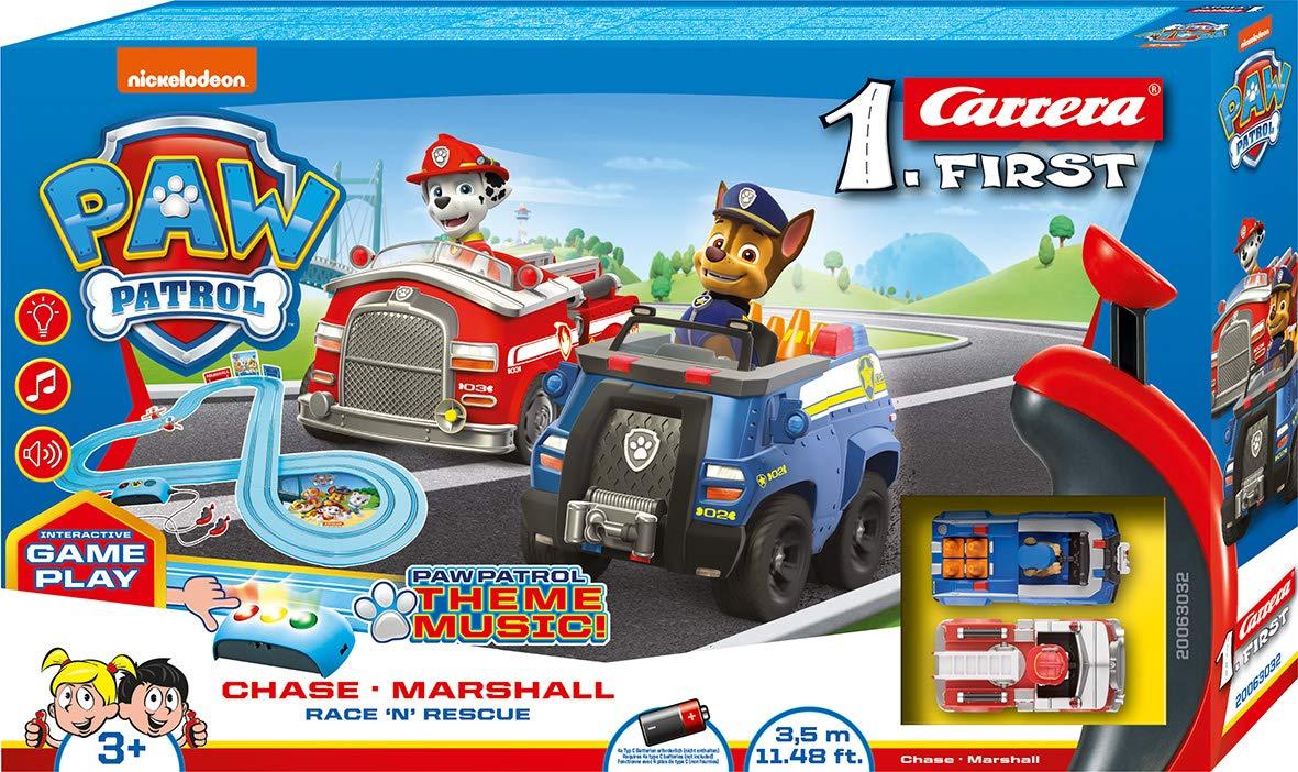 Carrera FIRST PAW Patrol Race 'N' Rescue 20063032 race track set from 3 years