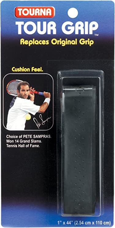 Black Tourna Pro Thin Replacement Grip 2.54 cm x 110 cm x 1.25 mm