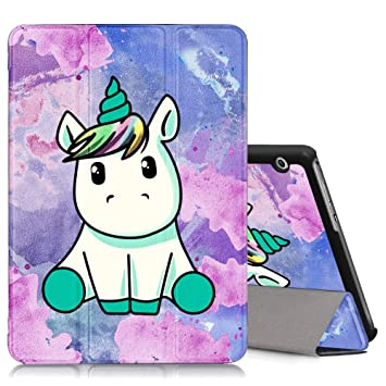 low priced 2615f 43d6c ZhuoFan Huawei Mediapad T3 10 Case, Slim Lightweight Leather Stand Flip  Cover with Pattern, Magnetic Adsorption, Auto Wake/Sleep for Huawei  Mediapad ...