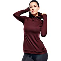 Womens Running Hoodie Pullover Workout Gym Activewear Lightweight Training Tops Long Sleeve
