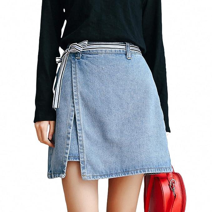 DER Bag Hips Show Falda de Jean Suelta de Cintura Alta versión ...