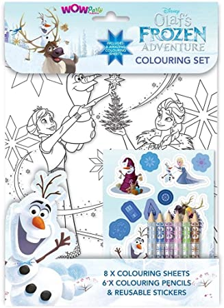 Wow Olaf S Frozen Adventure Colouring Set Amazon Co Uk Toys Games