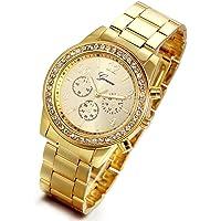 Lancardo Reloj Analógico Lujoso con Bisel de Diamantes