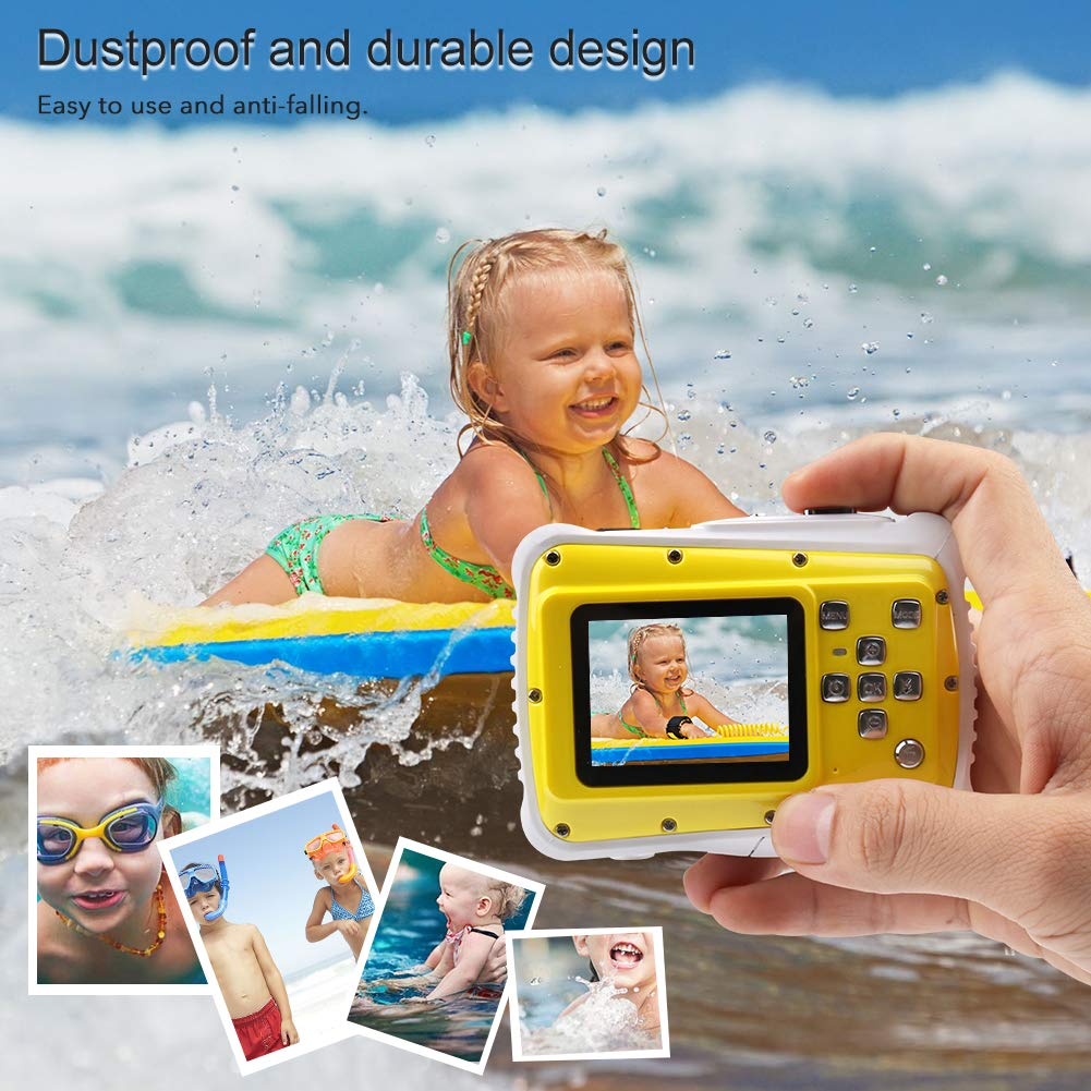 Smyidel Waterproof Mini Kid Camera High Definition 12MP HD 3M Underwater Swimming Digital Camera Camcorder 2.0 Inch LCD Display (Yellow) by Smyidel (Image #7)