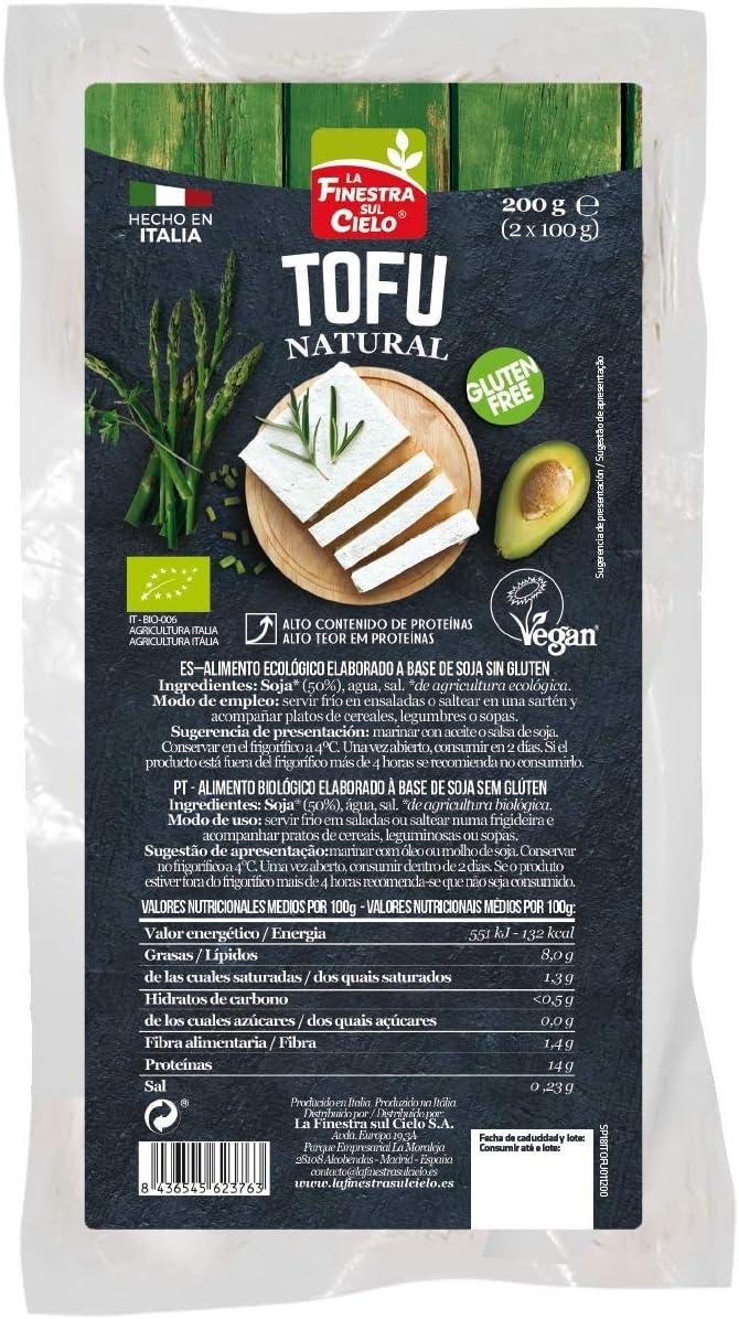 Tofu natural sin gluten BIO - La Finestra sul cielo - caja de 8 ...
