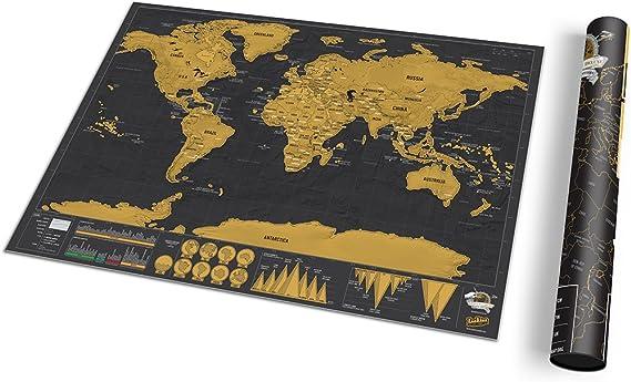 Luckies of London LUKSDT - Mapa Deluxe para rascar, 29.7 x 42 cm: Amazon.es: Hogar