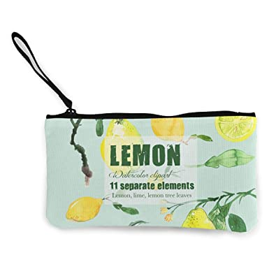 Amazon.com: Monedero Lemon Watercolor para niña con cierre ...