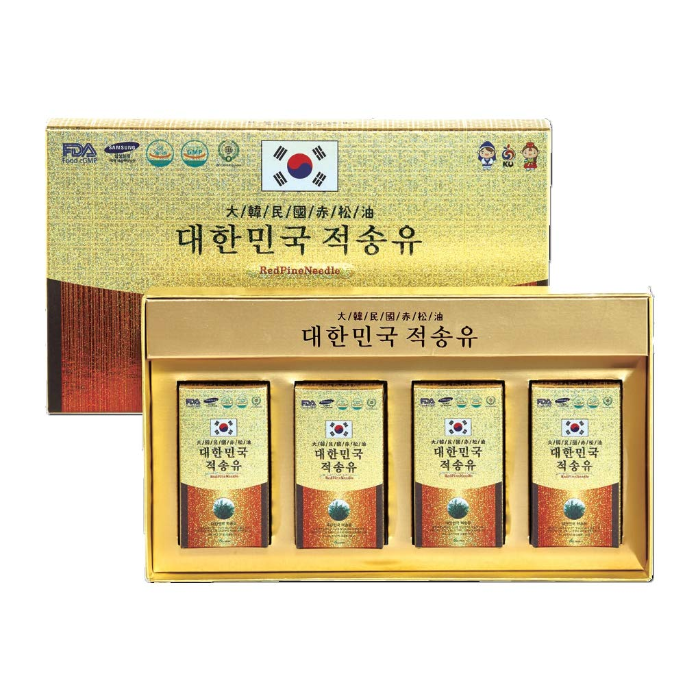 Solnara Organic Red Pine Tree Needle Oil, Made in Korea (450mg, 120 Capsules) - Wild Crafted, Non GMO - Pure, Bioactive, Vegan Beauty Treatment Powerful Immune System Booster - Anti Aging