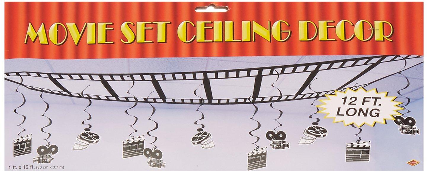 Movie Set Ceiling Decor Party Accessory (1 count) (1/Pkg)