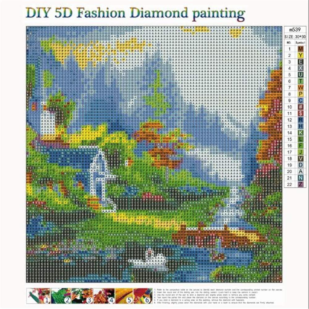 Rameng- Diamante Bordado Paisaje Belleza de Villa Diamond Painting ...