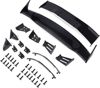 Body Tail Wing Accessory Set Kit Replacement Fit For RC 1:10 Scale Car Drift