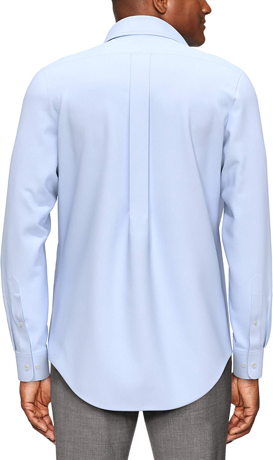 Marchio dress-shirts Uomo Buttoned Down Classic Fit Button-collar Pinpoint Non-iron Dress Shirt