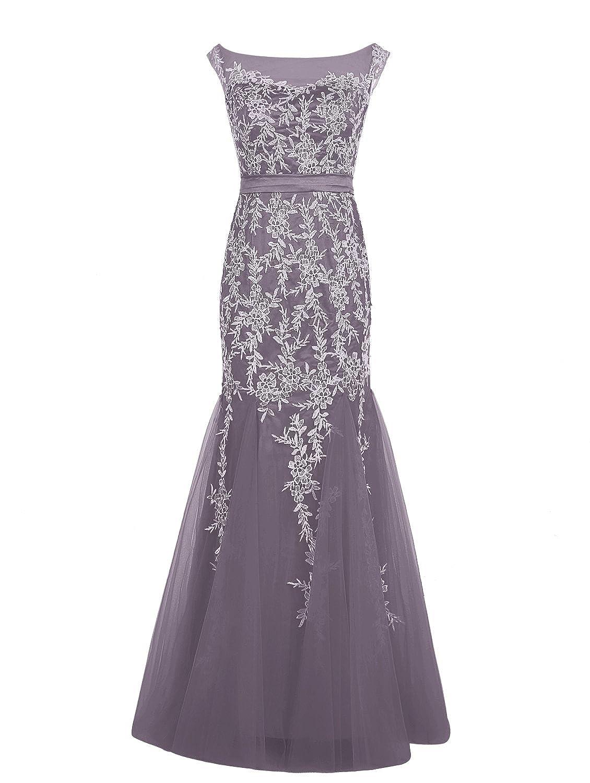 Dressystar Damen Lang Tüll Mermaid Abendkleider formales Kleid mit ...
