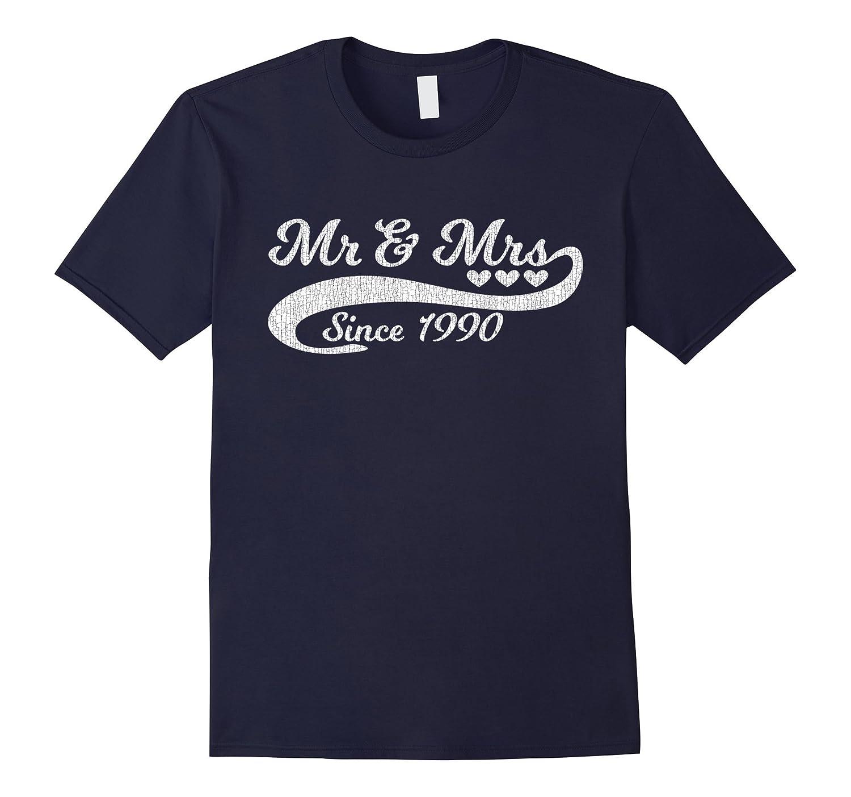 27th Wedding Anniversary T Shirt Vintage Distressed Look-CD