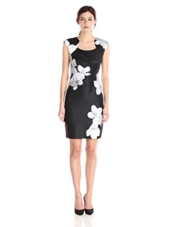 Calvin Klein Women's Floral-Print Side-Ruched Dress