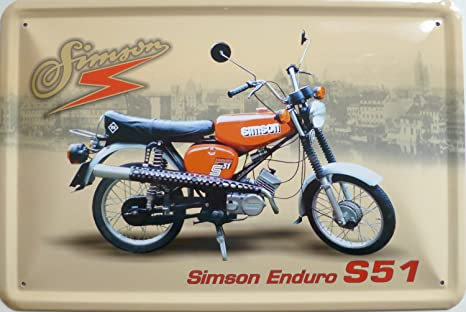 Vielesguenstig 2013 Blechschild 20x30cm Simson Enduro S51 Küche Haushalt