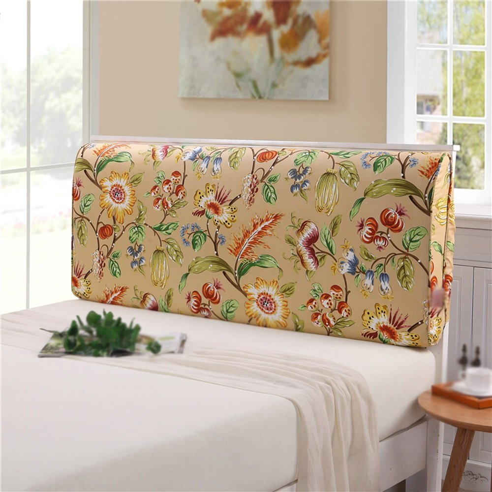 Washable bed hood / headboard cushion / double bed pillow / canvas large backrest / bedside soft bag ( Size : 2006010cm )