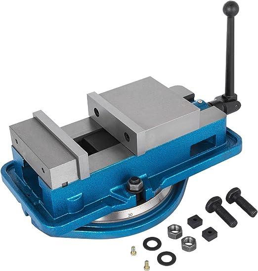 """6/"""" Milling Machine Lockdown Vise Swivel Base Swiveling Harden Metal 160mm Width"""