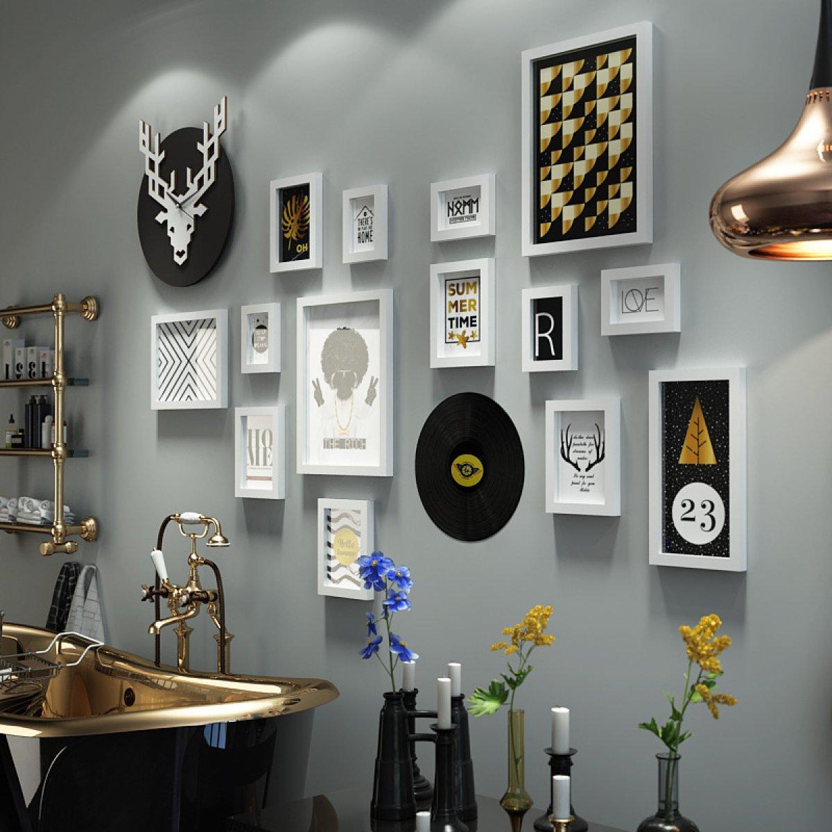MEI Fotowand Foto Wandbehang Combo Bilderrahmen Wand Home Dekorative ...