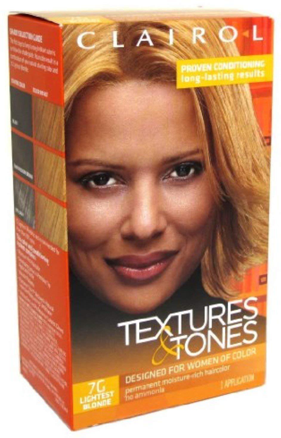 Clairol Textures & Tones 7G Lightest Blonde, 1 oz