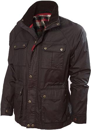 VEDONEIRE Chaqueta para hombre wax jacket (3050 BROWN)chaqueta ...