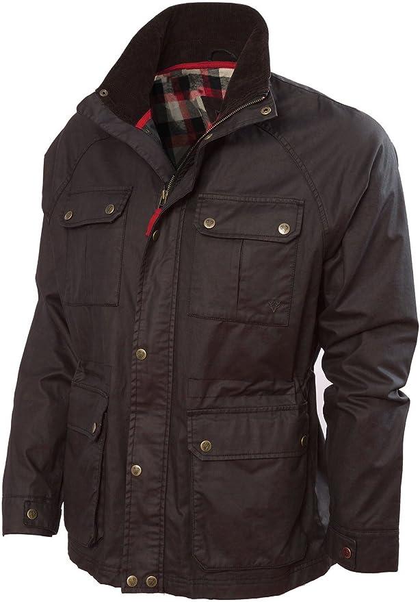 Vedoneire Chaqueta para Hombre Wax Jacket (3050 Brown) Chaqueta Abrigos de Cera de algodón marrón: Amazon.es: Ropa y accesorios