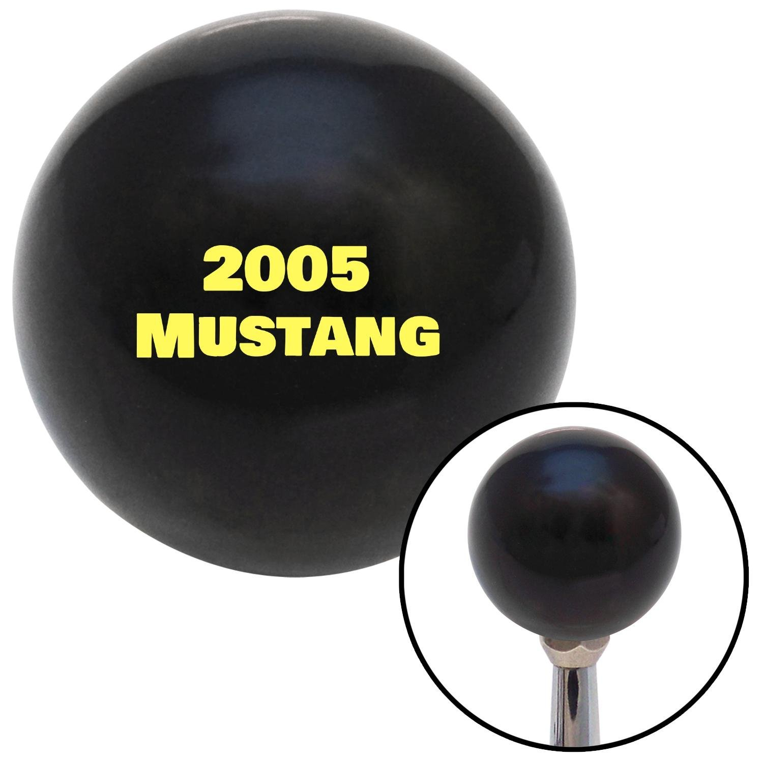 American Shifter 140622 Black Shift Knob with M16 x 1.5 Insert Yellow 2005 Mustang