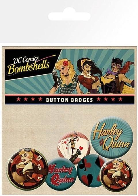 GB Eye LTD, DC Comics, Harley Quinn Bombshell, Pack de Chapas: Amazon.es: Hogar