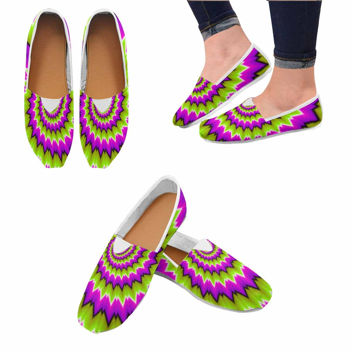 InterestPrint Womens Lightweight Casual Walking Athletic Shoes Slip-on Loafer