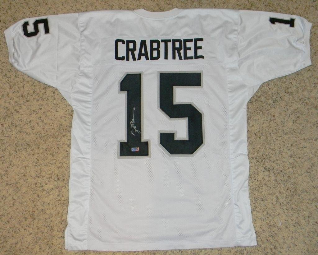 e4db19b5255 Amazon.com  Michael Crabtree Autographed Jersey -  15 White Coa -  Autographed NFL Jerseys  Sports Collectibles