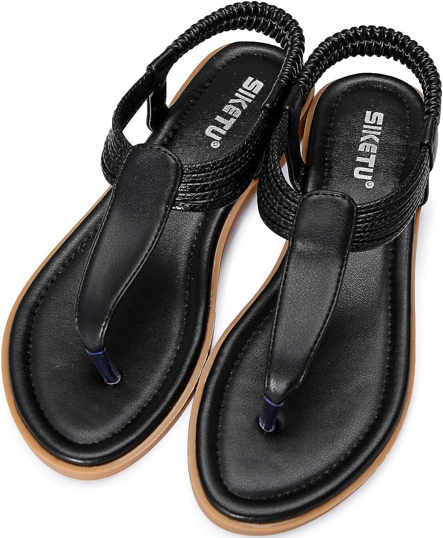 ZOEREA sandales femme Chaussures sandales en cuir PU Bohemia flat flip flops /ét/é