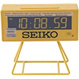 Seiko QHL062Y Countdown Style Sports Timing Clock, Yellow