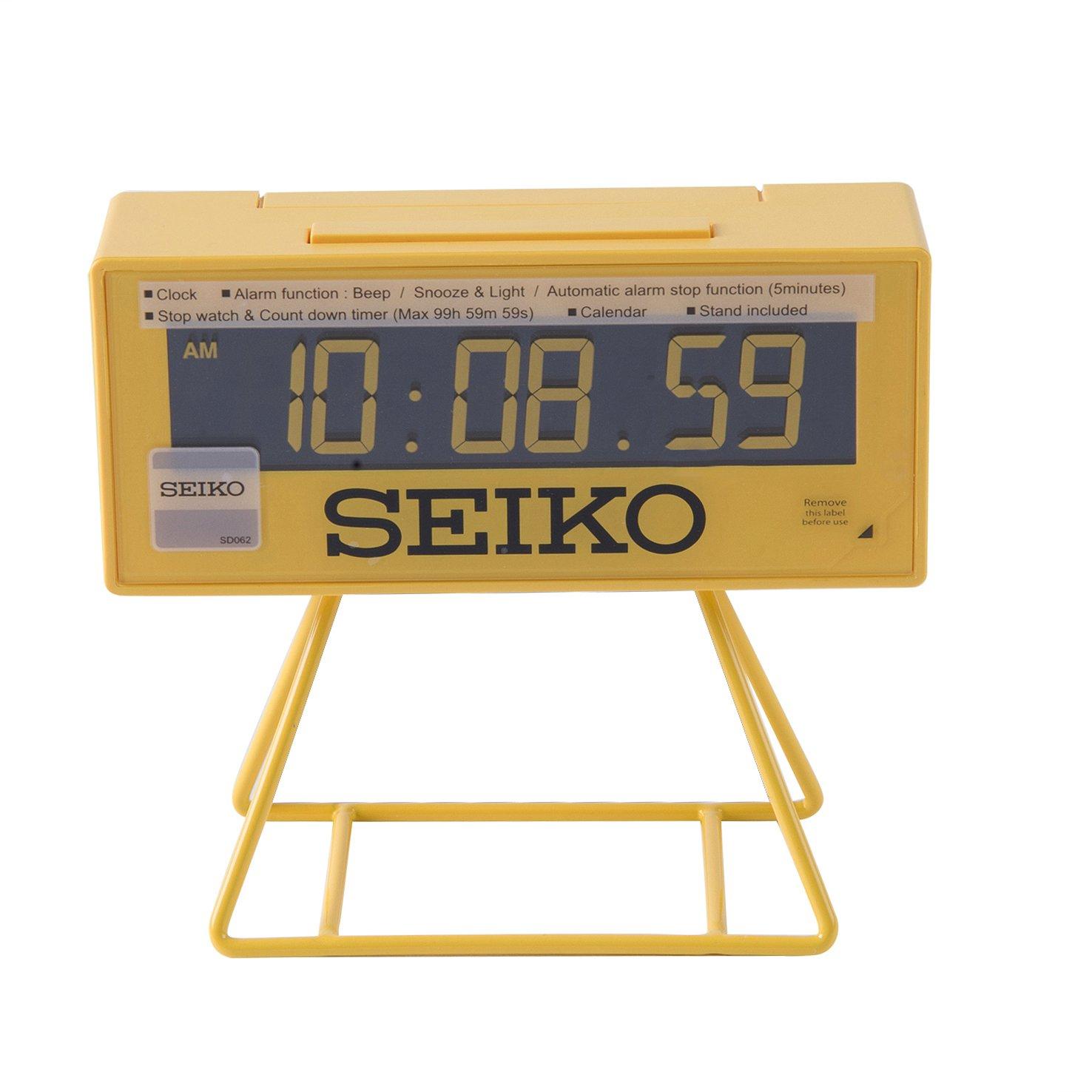 Seiko QHL062Y Digital Alarm Clock Yellow