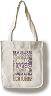 product image for Lantern Press New Orleans, Louisiana - Typography (100% Cotton Tote Bag - Reusable)