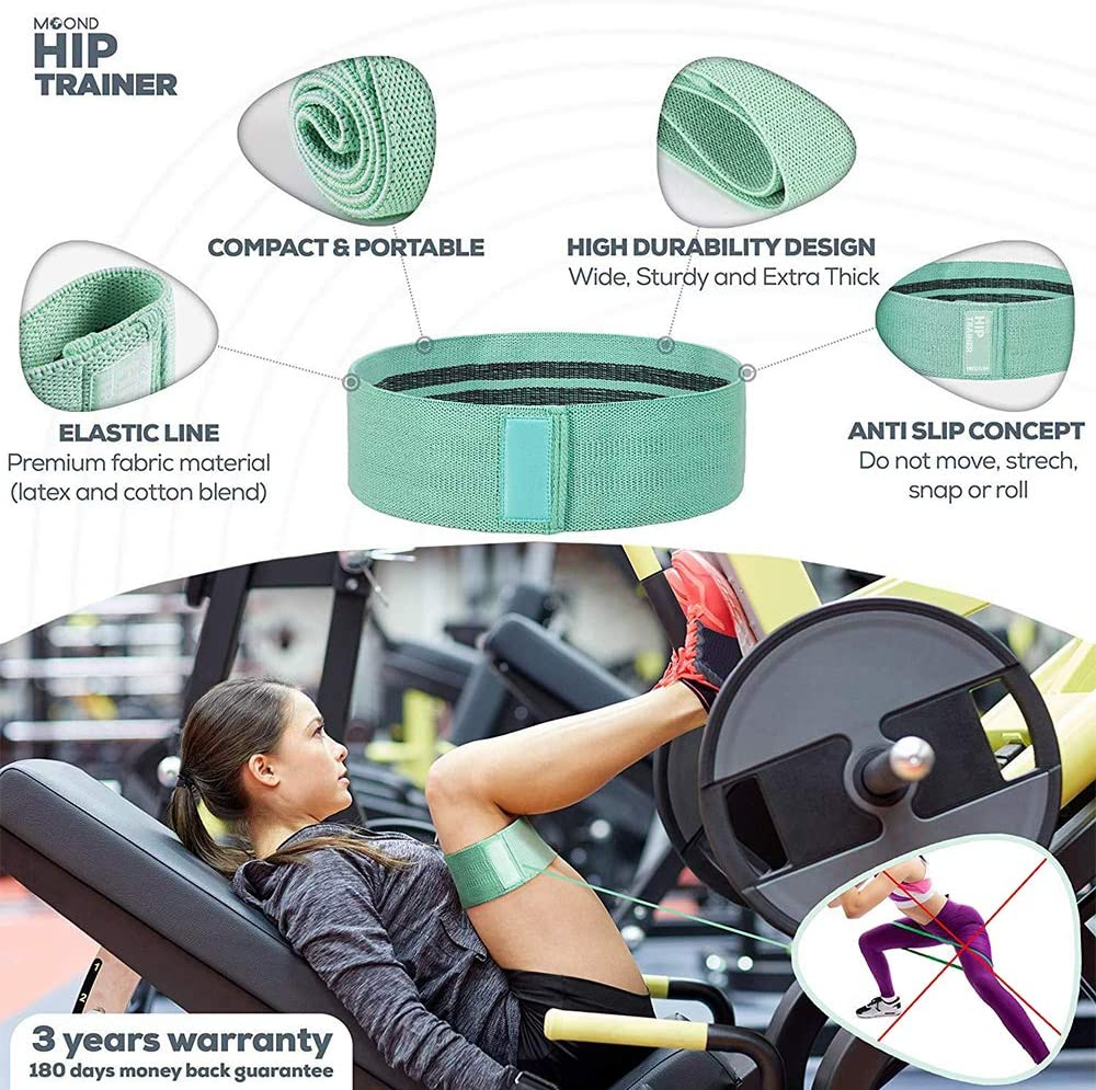 Resistance Bands for Legs and Butt Bands Loop Exercise Exercise Hips and Legs Band Anti Slip Elastic . 3 Pack