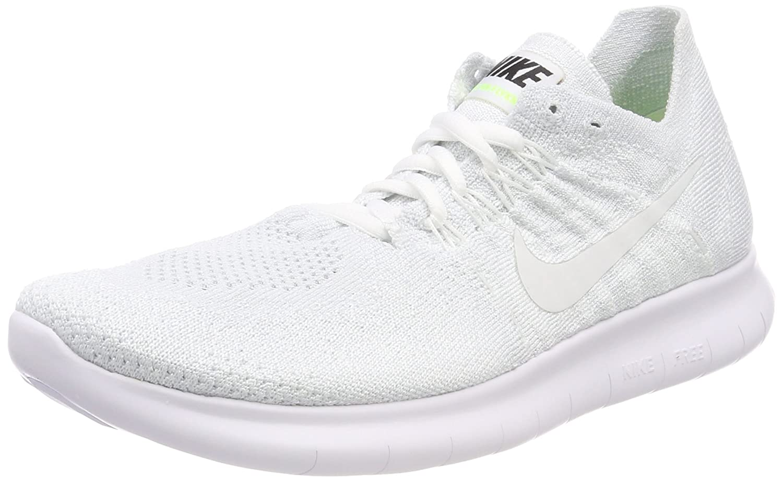 NIKE Women's Free RN Flyknit 2017 Running Shoe B071D2GL18 10.5 B(M) US|White/White-pure Platinum