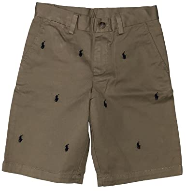 5350ff571 Amazon.com: RALPH LAUREN Polo Boys Shorts All Over Multi Pony Stitching:  Clothing