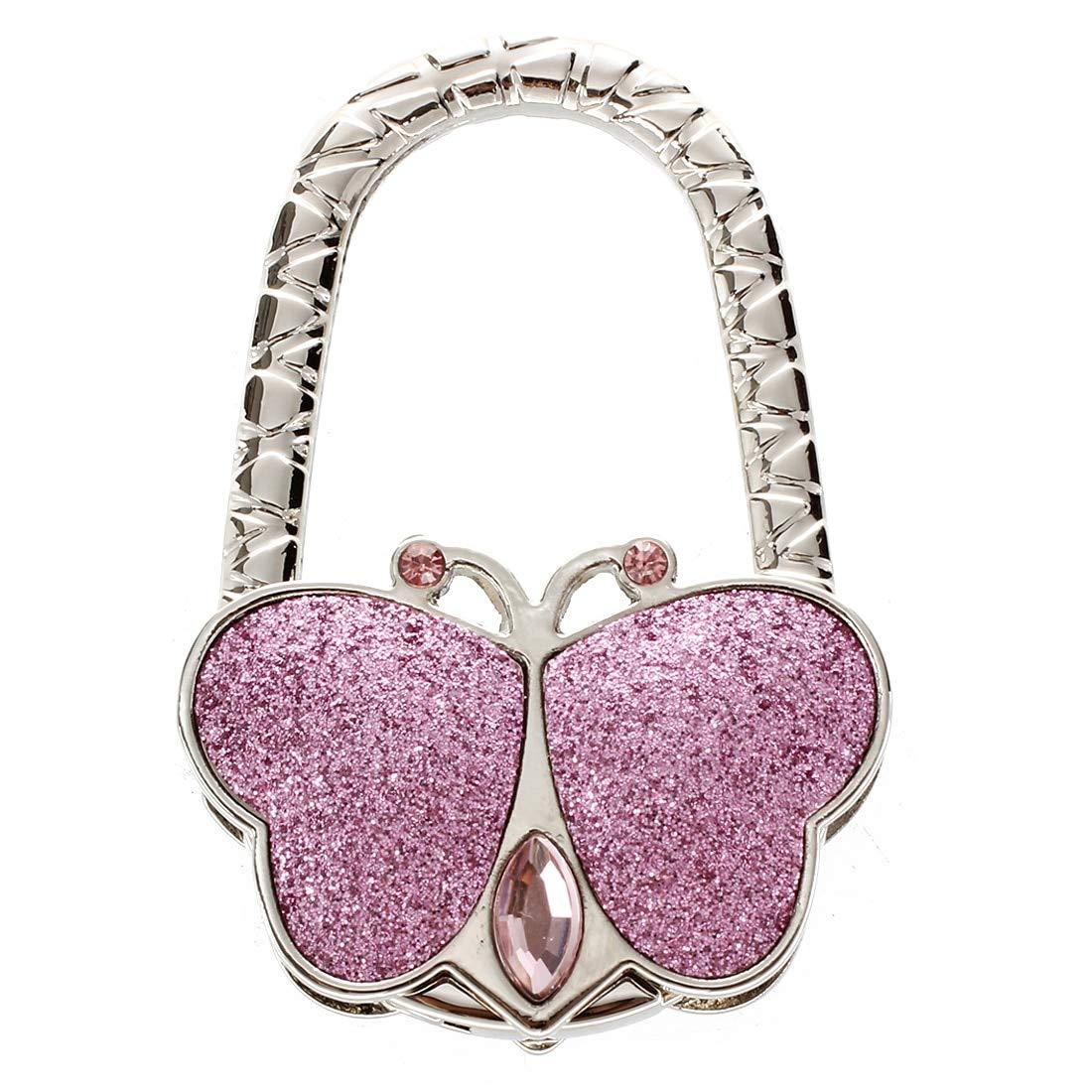 Bag Hook Bag Holder - Foldable Portable Handbag Hook - Butterfly Shaped Folding Handbag Hanger - Multiple Purse Shell Bag Hook Holder