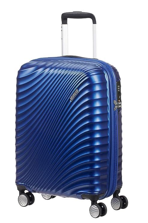 American Tourister Jetglam - Maleta con Ruedas (55 cm), Azul ...