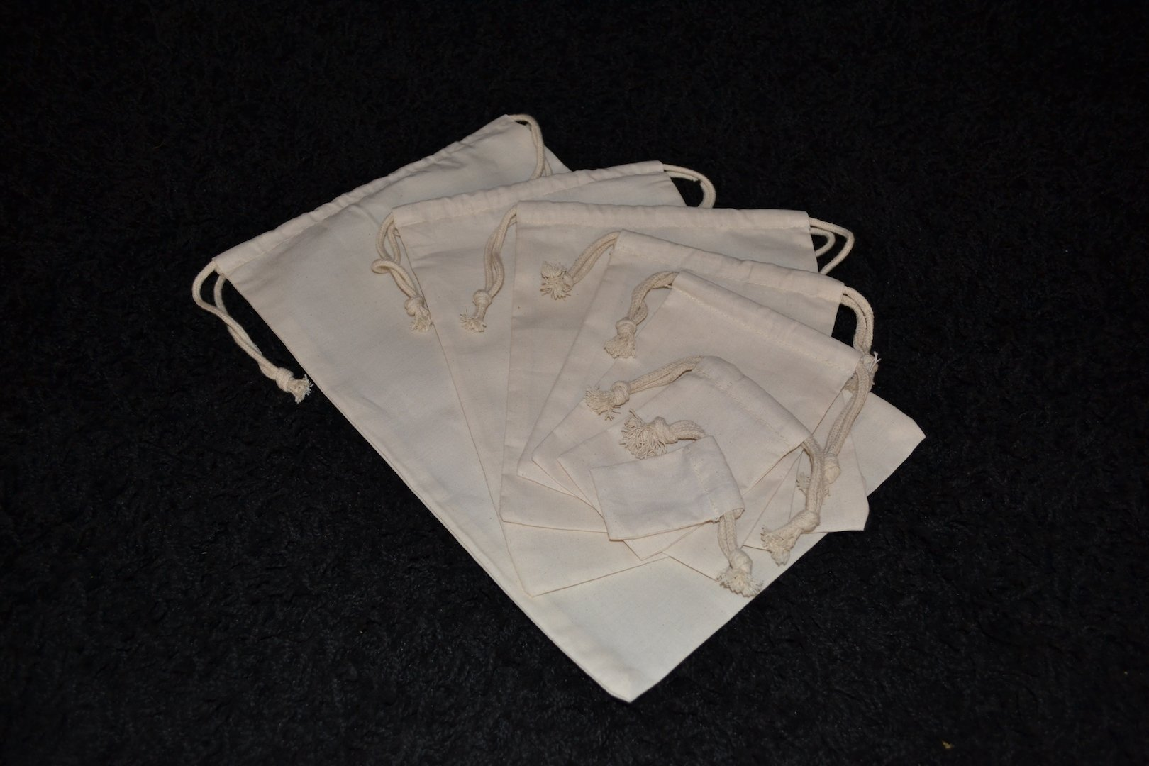 Biglotbags 100 Pieces of 12 x 16 Inches Cotton Muslin Bags, 100% Organic Cotton, Double Drawstring Style, Premium Quality by BigLotBags (Image #5)