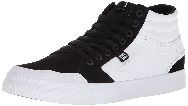 DC Men's Evan Smith Hi Skateboarding Shoe 13 D(M) US|White/Black