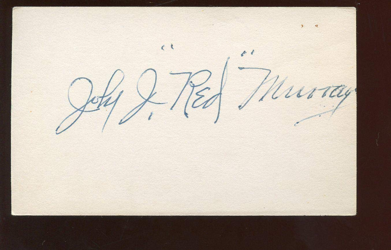 John Red Murray T206 Player Autographed Index Card Hologram MLB Cut Signatures