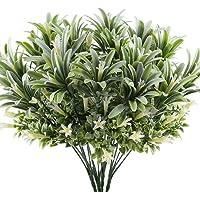 GTidea 4pcs Artificial Plastic Flowers Plants Fake Shrubs Faux Morning Glory Bushes House Office Garden Patio Yard…